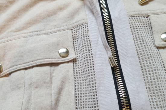 Balmain Zipped Up Cotton/Linen Hoodie Size US XL / EU 56 / 4 - 3