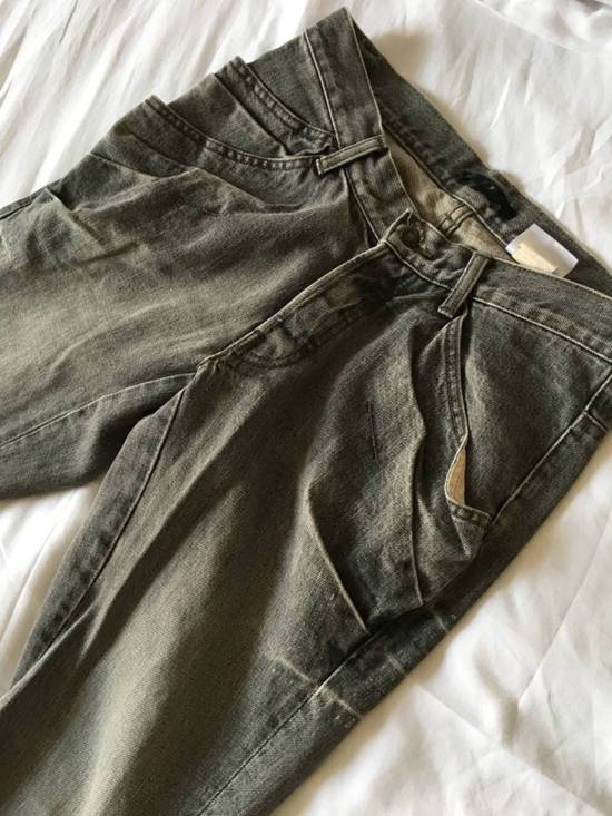 Julius Japan made rugged grey Slouchy distressed Japanese denim jeans Size US 29 - 2