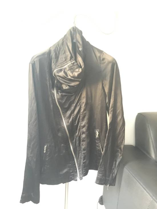 Julius 2010 Black Cowl Neck Zipper jacket size 1 Cupro Cotton Size US S / EU 44-46 / 1 - 1
