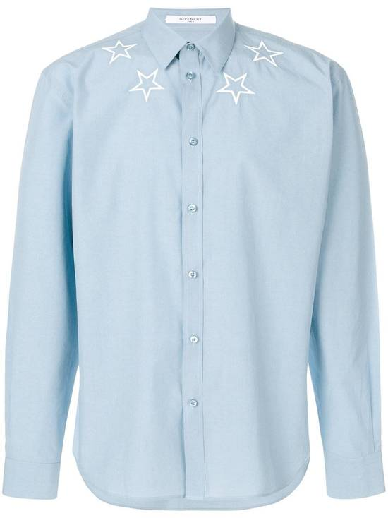 Givenchy Givenchy star embroidered blue shirt sz 38 Size US S / EU 44-46 / 1 - 8
