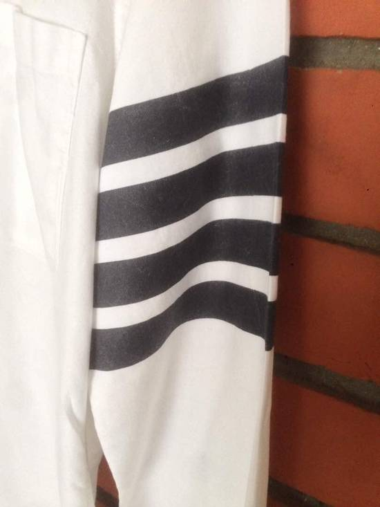 Thom Browne Nice Item !! White Stripe Left Side Thom Browne Button Up Size US M / EU 48-50 / 2 - 8