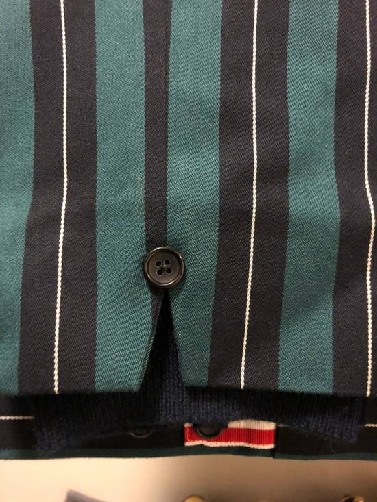 Thom Browne Thom Browne Pinstripe Trousers With Flappy Back Pockets And Cashmere Leg Warmer Size US 30 / EU 46 - 5
