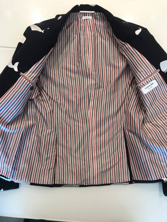 Thom Browne Nautical-Patch Wool Two-Button Sportcoat Size 36S - 4