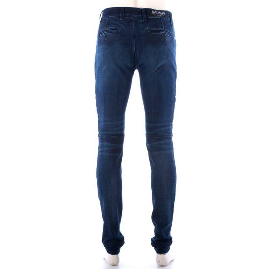 Balmain 995$ New Dark Blue Cotton Blend Biker Jeans Size US 29 - 6