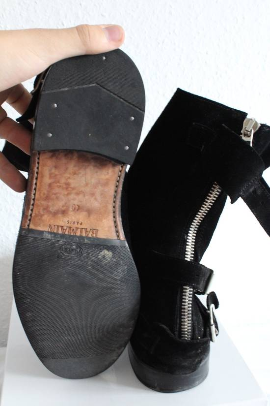 Balmain Suede Strapped Biker Boots Size US 12.5 / EU 45-46 - 3