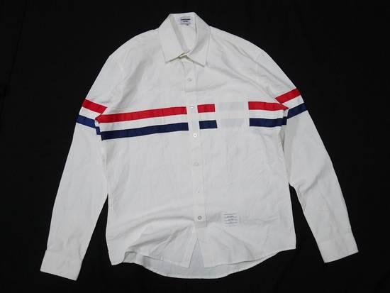 Thom Browne Thom Browne Tristripe Grosgrain Oxford Pocket Shirt Size US L / EU 52-54 / 3