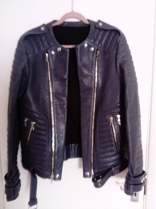 Balmain *Final Drop* Quilted leather biker jacket 54 Size US L / EU 52-54 / 3 - 6