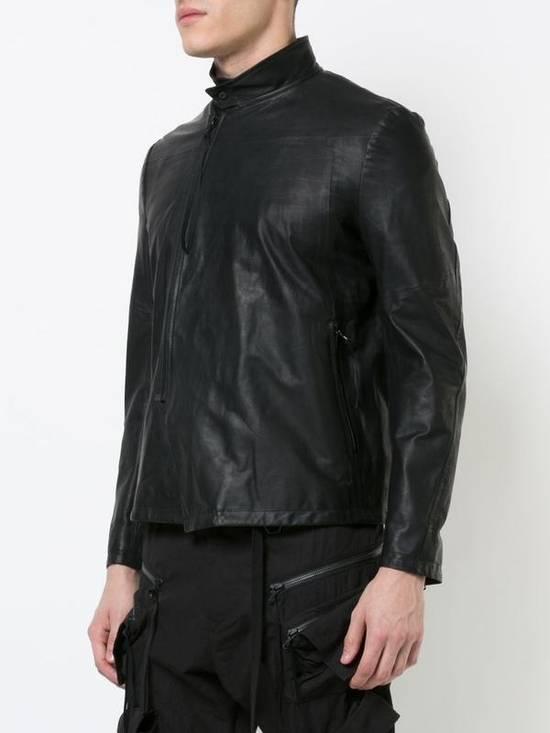 Julius Black Leather Jacket Size US M / EU 48-50 / 2