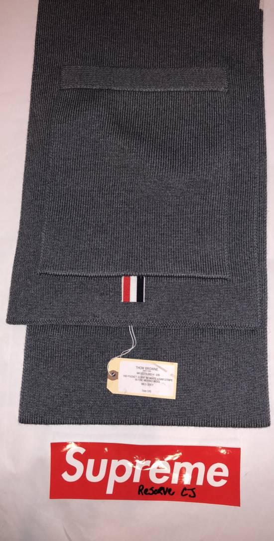 Thom Browne Thom Browne Pocket Scarf Grey Size ONE SIZE