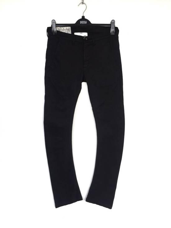 Julius Japanese Artist Designer Blue Tornado Cotton Twill Twist Leg Skinny Trousers Pants Inspired by MA_Julius Size US 30 / EU 46