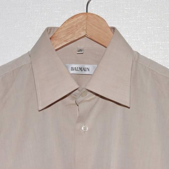 Balmain Vintage Balmain Paris Men's Longsleeve Button Shirt Beige Size M L 39 40 Cotton Size US M / EU 48-50 / 2 - 7