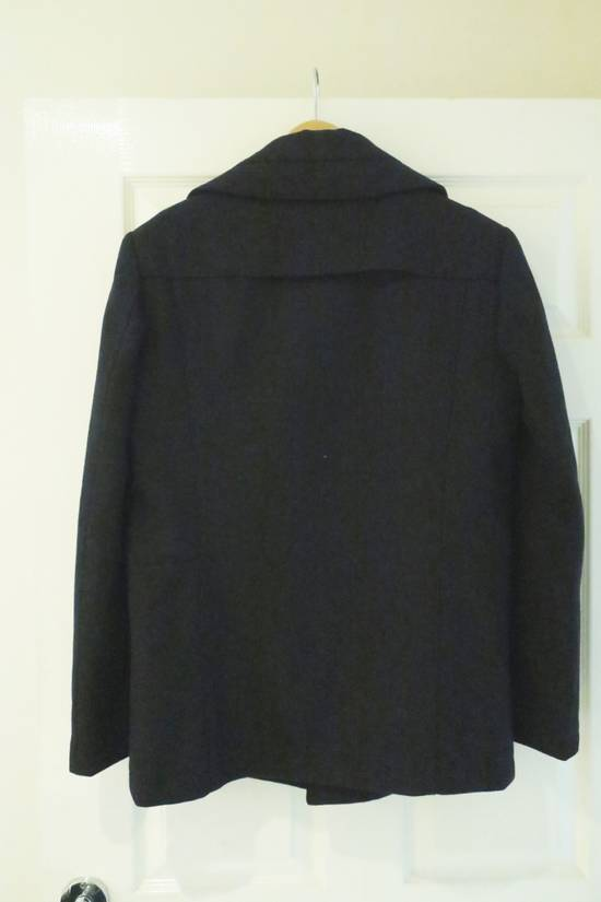 Givenchy BLACK WOOL DOUBLE BREASTED PEA COAT Size US M / EU 48-50 / 2 - 1
