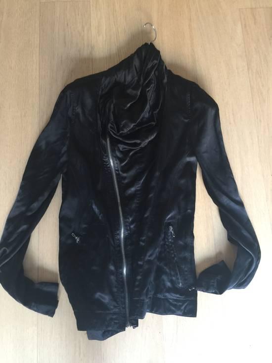Julius 2010 Black Cowl Neck Zipper jacket size 1 Cupro Cotton Size US S / EU 44-46 / 1
