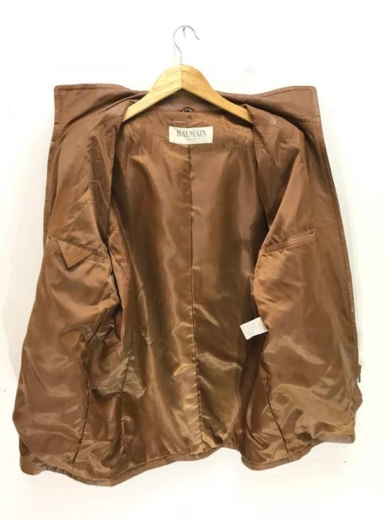 Balmain Balmain Paris Vintage Sheep Leather Jacket Brown Size US L / EU 52-54 / 3 - 2