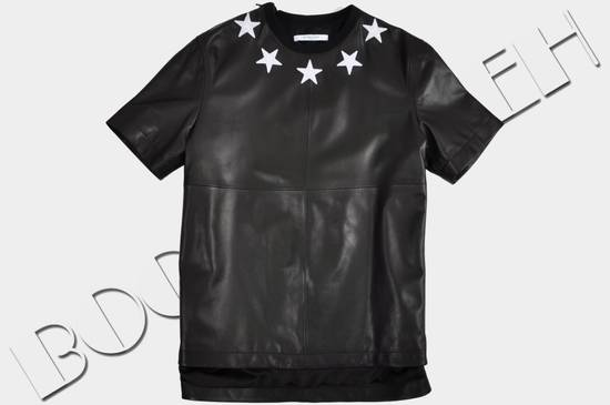 Givenchy 2500$ Black Leather Star Embroidered T-shirt Size US L / EU 52-54 / 3 - 1