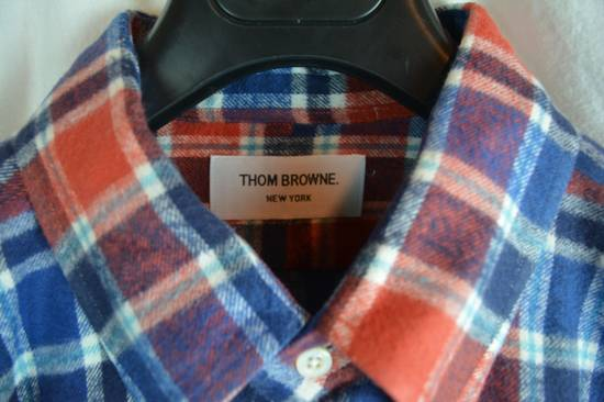 Thom Browne Red White Blue Plaid Flannel Thick Cotton Casual Shirt 3 4 5 X-Large Size US XL / EU 56 / 4 - 3