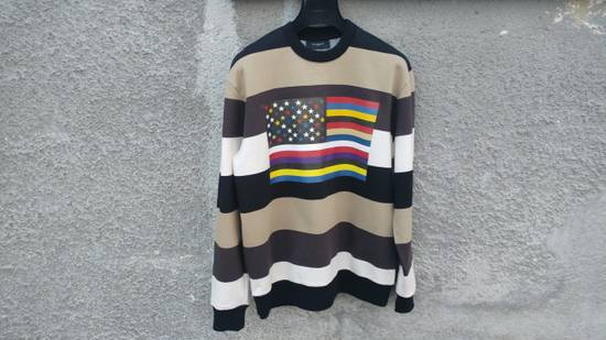 Givenchy $795 Givenchy American Flag Stripe Rottweiler Oversized Sweater size XXS (L) Size US L / EU 52-54 / 3