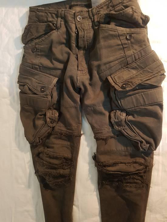 Julius Julius Distressed Gasmask Cargo Pants Size US 30 / EU 46 - 3