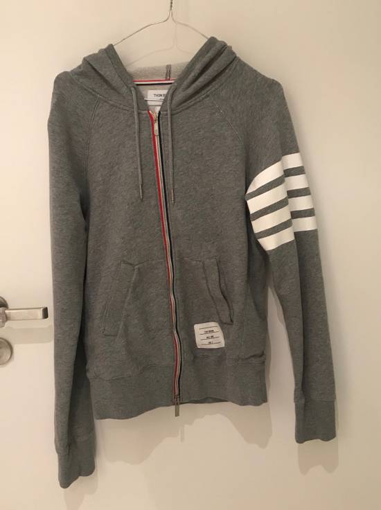 Thom Browne Zip-Up Hooded Cotton Sweatshirt Size US M / EU 48-50 / 2
