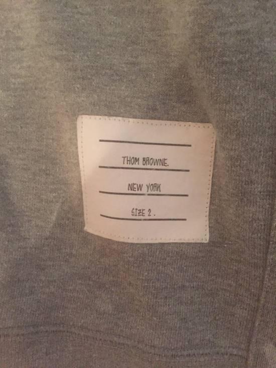 Thom Browne classic Striped Loopback grey sweatshirt Size US M / EU 48-50 / 2 - 4