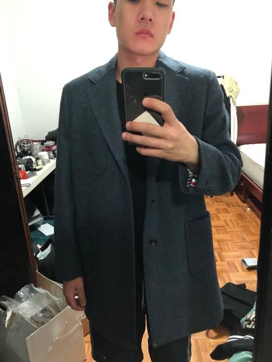 Thom Browne Navy Wool Topcoat (Size 2 - Fits M/L) Size US M / EU 48-50 / 2 - 8