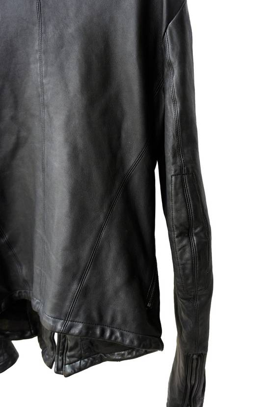 Julius JULIUS _7 ma high neck black lamb biker jacket slim fit Japan Size US S / EU 44-46 / 1 - 17