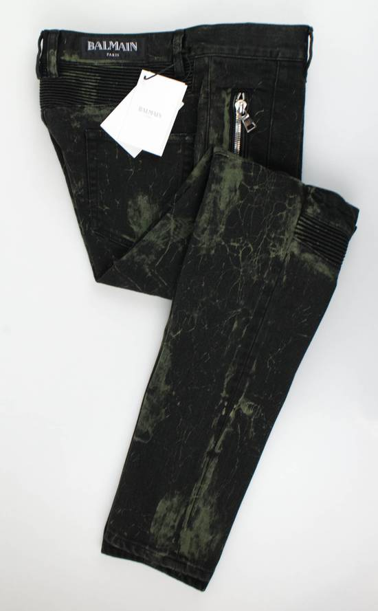 Balmain Green Cotton Blend Denim Slim Fit Jeans Pants Size US 32 / EU 48