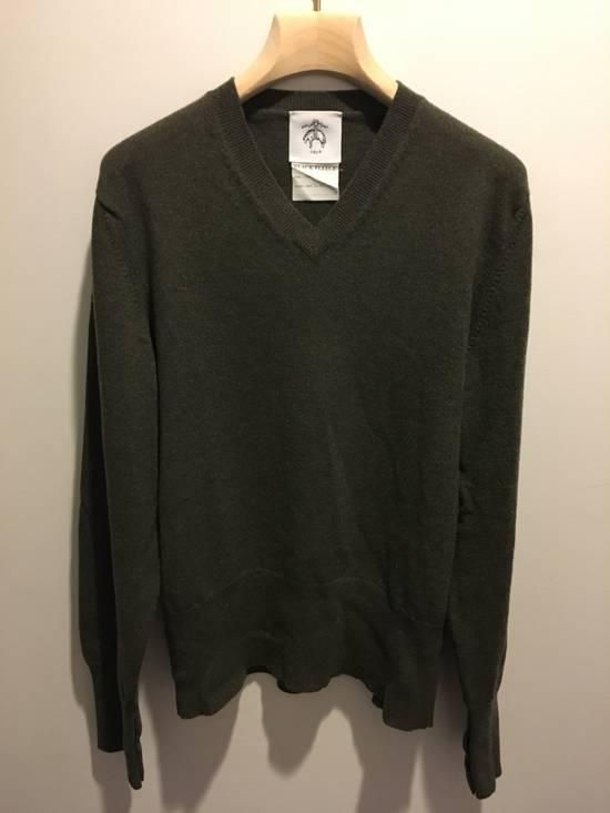 Thom Browne Black Fleece/Thom Browne Green Vneck Size US M / EU 48-50 / 2 - 1