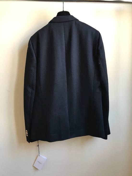 Balmain Slim Fit Cotton Navy Blazer Size 44R - 2