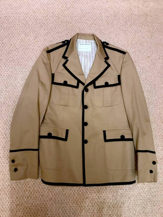 Thom Browne Beige Military Jacket with Contrast Piping Size 38R