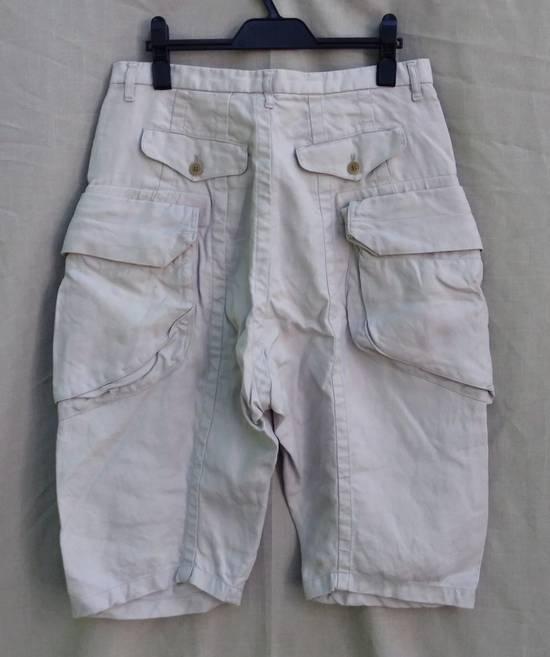 Julius Gas Mask Cargo Shorts White Bamboo Twill ss12 Size US 30 / EU 46 - 1