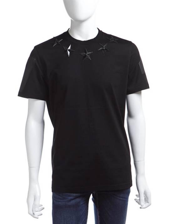 Givenchy Black Metal Stars T-shirt Size US XS / EU 42 / 0 - 1