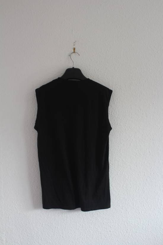 Balmain SS11 860$ RRP Decarnin Era Black Sleeveless Metal Pin Shirt Hand Made Size US M / EU 48-50 / 2 - 5