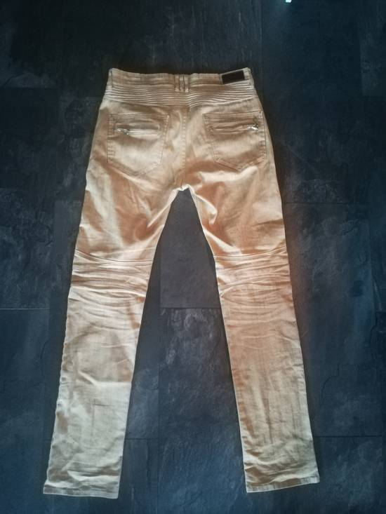Balmain NOT Balmain Slim Fit Tan Biker Jeans Size US 32 / EU 48 - 2