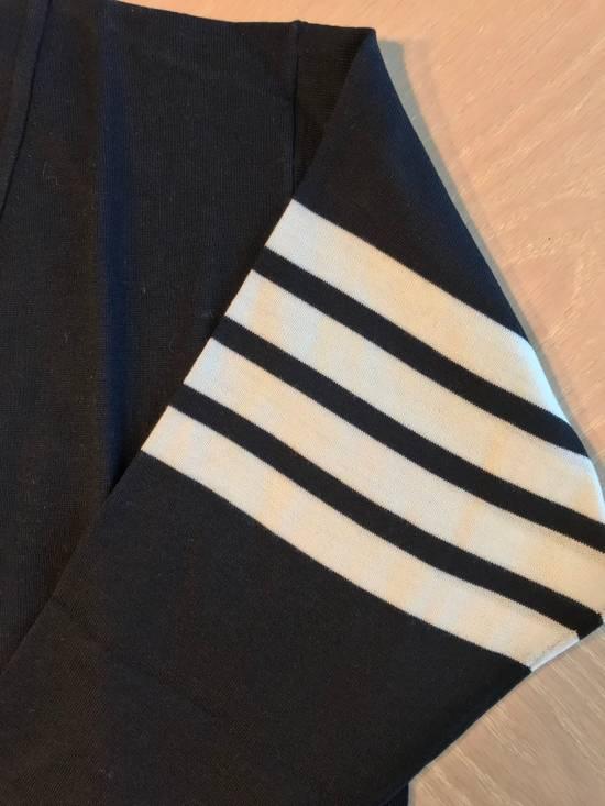 Thom Browne Navy Merino Wool Classic 4 Bar Cardigan Size US L / EU 52-54 / 3 - 7