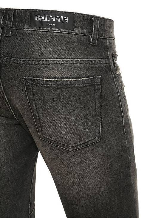 Balmain Balmain Washed Cotton Denim Black Biker $990 Authentic Jeans Size 31 New Size US 31 - 1