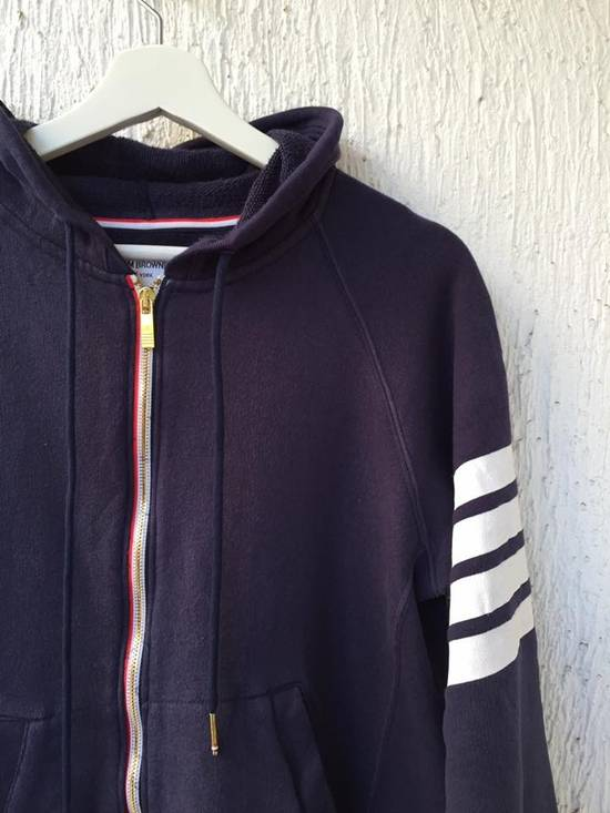 Thom Browne NAVY ENGINEERED STRIPE HOODY Size US L / EU 52-54 / 3 - 1