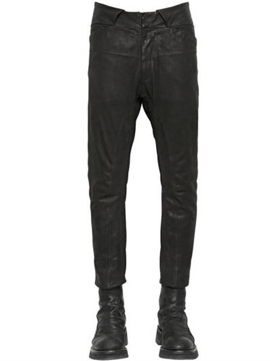 Julius BNWT Leather Paneled Biker Pants Size US 30 / EU 46