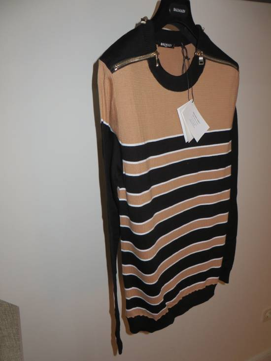 Balmain Stripped sweater with zippers Size US L / EU 52-54 / 3 - 3