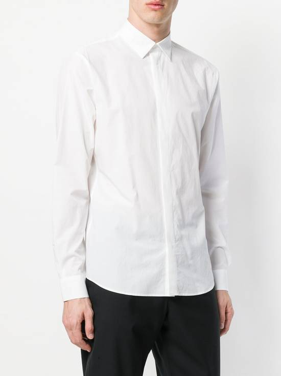 Givenchy White Embroidered Stars Collar Shirt Size US L / EU 52-54 / 3 - 2