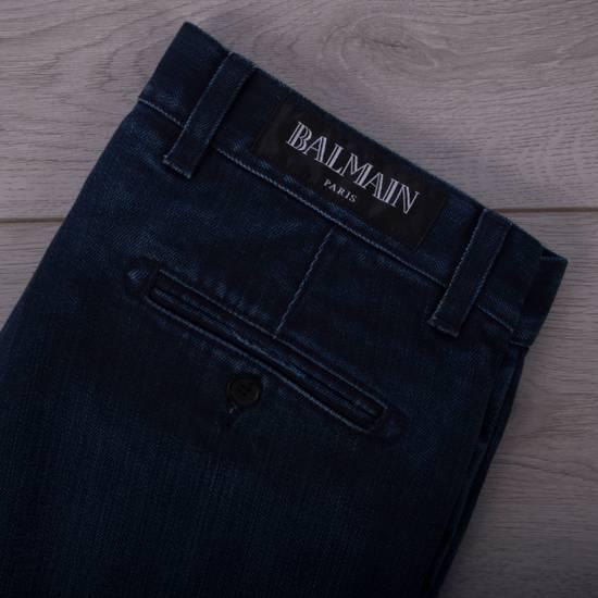 Balmain 995$ New Dark Blue Cotton Blend Biker Jeans Size US 29 - 11