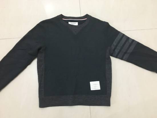 Thom Browne Dark Charcoal Wool Blend Sweatshirt Size US S / EU 44-46 / 1