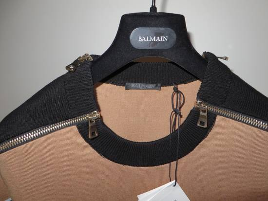 Balmain Stripped sweater with zippers Size US L / EU 52-54 / 3 - 4