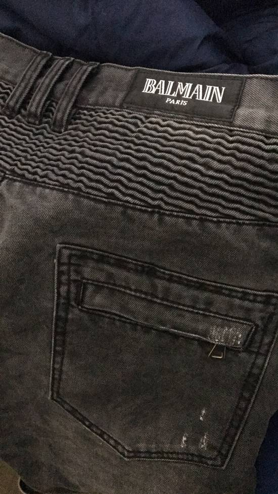 Balmain Beautiful Balmain Grey Denim Biker Jeans Size US 34 / EU 50 - 5