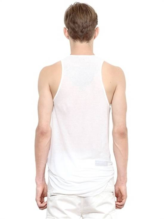 Balmain White Ribbed Knit Tank Top Size US L / EU 52-54 / 3 - 2