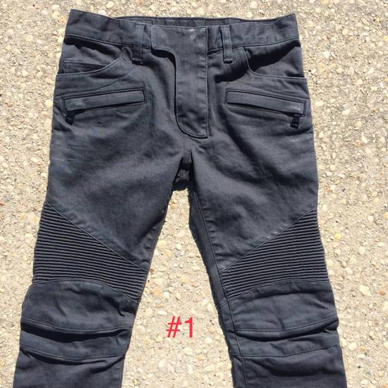 Balmain Gray Biker Jeans Size US 27
