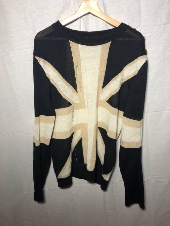 Balmain Union Flag Distressed Sweater Size US XXL / EU 58 / 5