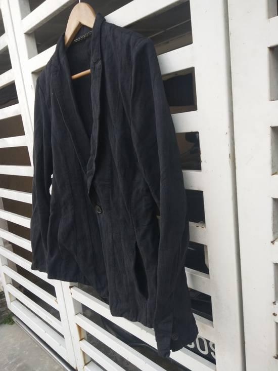 Julius Julius 2004 The Structure Black Cotton Coat Jacket Blazer Size US S / EU 44-46 / 1 - 4