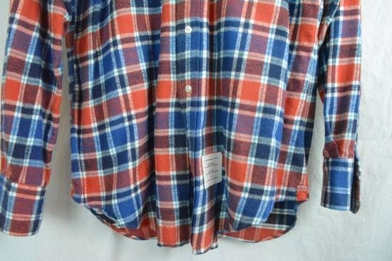 Thom Browne Red White Blue Plaid Flannel Thick Cotton Casual Shirt 3 4 5 X-Large Size US XL / EU 56 / 4 - 2
