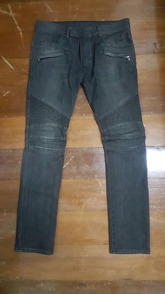 Balmain Grey Biker Decarnin Era FW11 Size US 29